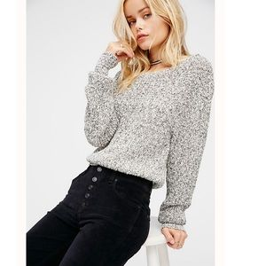 Free People Electric City Knit Pullover Marbled L